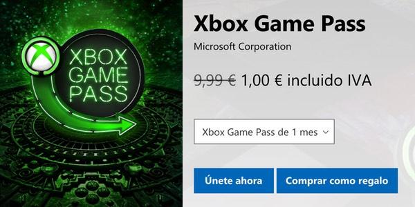 Xbox Game Pass por 1€