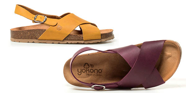 Yokono Mabul sandalias para mujer con tiras cruzadas de piel chollo