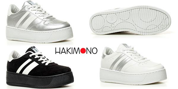 Zapatillas de estilo casual Hakimono Tayan con plataforma para mujer baratas