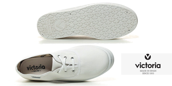 Zapatillas Victoria de lona blanca con plataforma para mujer chollazo en eBay