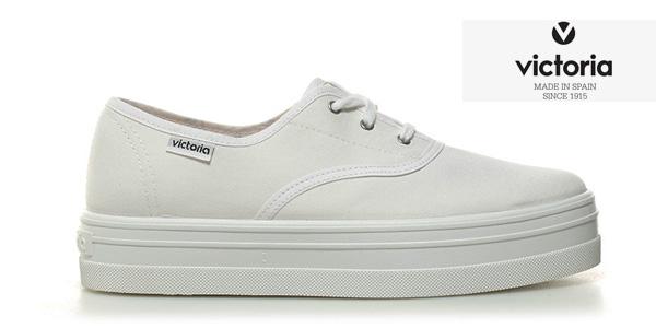 Zapatillas Victoria de lona blanca con plataforma para mujer baratas en eBay