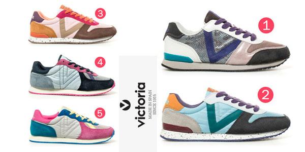 Zapatillas Victoria en piel combinada para mujer baratas en eBay