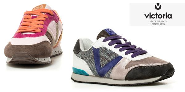 0ca8ed67bfd CHOLLO LOCO  Zapatillas de piel combinada Victoria para mujer por ...