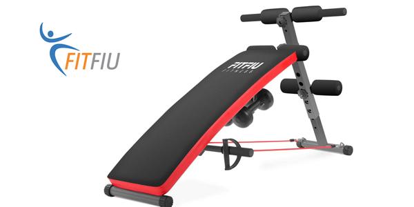 Banco de abdominales Fitfiu Fitness BA-20 negro barato en Amazon