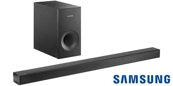 Barra de sonido Samsung HW-K360 2.1 con Bluetooth y subwoofer inalámbrico 130W
