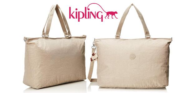 Bolsa de viaje Kipling XL de 32 litros pastel beige barata en Amazon