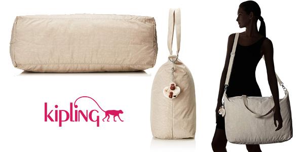 Bolsa de viaje Kipling XL de 32 litros pastel beige chollazo en Amazon
