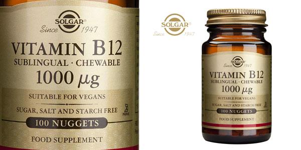 Bote Solgar Vitamina B12 de 100 cápsulas masticables barato en Amazon