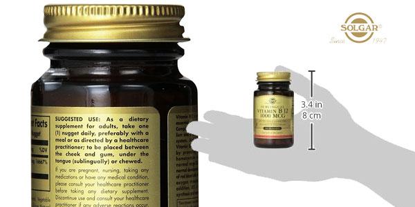 Bote Solgar Vitamina B12 de 100 cápsulas masticables chollo en Amazon