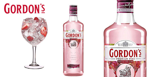 Botella Ginebra Gordon's Premium Pink Distilled Gin 700 ml barata en Amazon