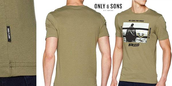Camiseta Only & Sons Onsgabriel SS de manga corta para hombre chollazo en Amazon