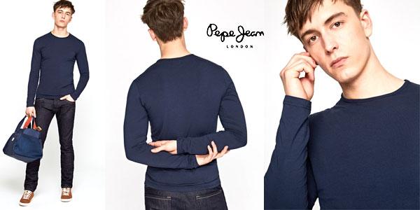 Camiseta Pepe Jeans Original Basic de manga larga para hombre barata en Amazon