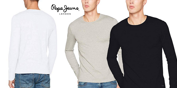 Camiseta Pepe Jeans Original Basic de manga larga para hombre chollo en Amazon