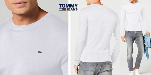 Camiseta TOMMY HILFIGER DENIM manga larga chollazo en Amazon
