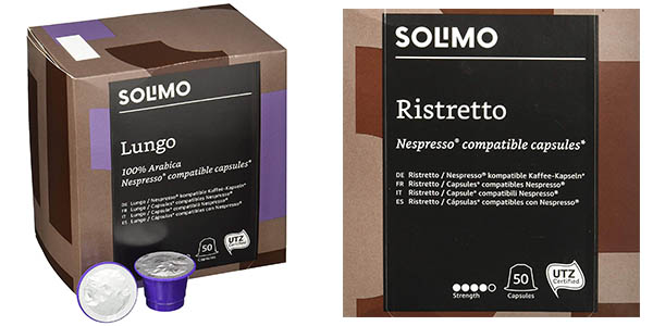 cápsulas de café Nespreso Solimo Amazon oferta
