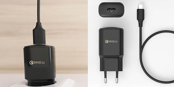 cargador sin cable BQ carga rápida smartpohone dispositivos chollo