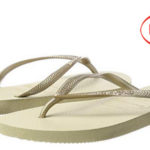 Chanclas Havaianas Slim para mujer en color dorado baratas en Amazon
