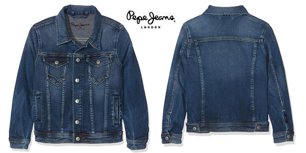 Chaqueta vaquera Pepe Jeans Legendary azul denim para niños chollo en Amazon