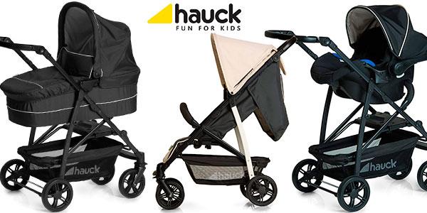 Chollo Coche Hauck Rapid 4 Plus plegable con capazo y sillita para bebé