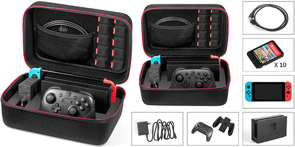 Chollo Estuche Younik de transporte de lujo para Nintendo Switch