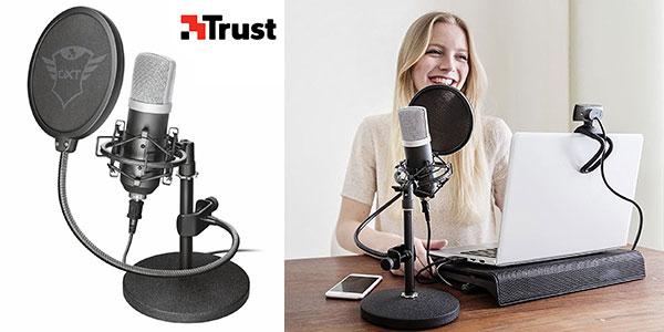Chollo Micrófono de estudio Trust GXT 252 Emita con USB