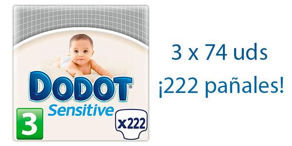 Pack de 222 pañales Dodot Sensitive de Talla 3 en oferta