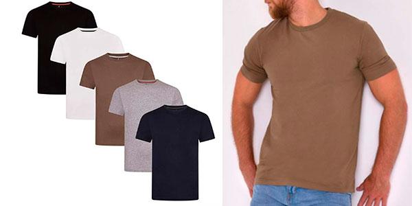 Chollo Pack de 5 camisetas de manga corta de algodón para hombre