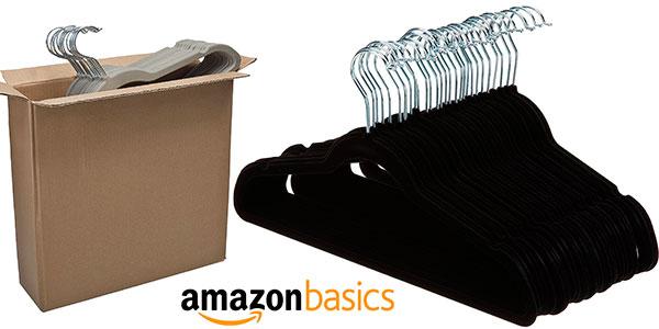 Chollo Pack de 30 perchas de terciopelo AmazonBasics