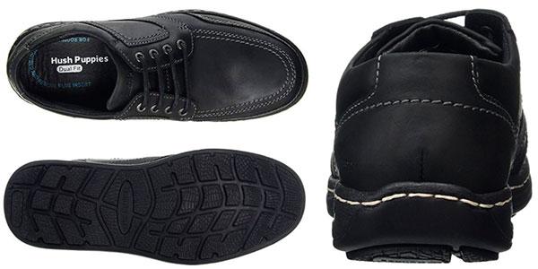 Chollo Zapatos Hush Puppies Volley Victory negros de cordones Derby para hombre
