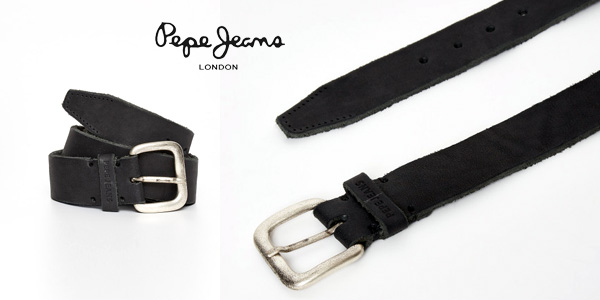 Cinturón Pepe Jeans Tibol Belt en color negro para hombre chollo en Amazon