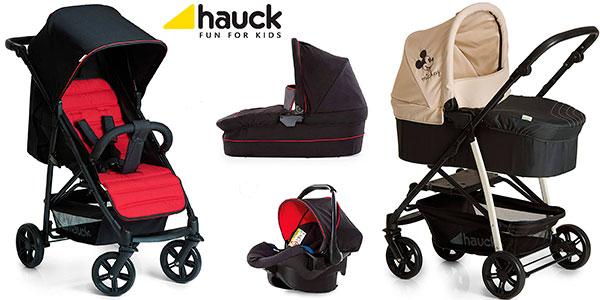 Coche Hauck Rapid 4 Plus con capazo y sillita para bebé en varios modelos barato