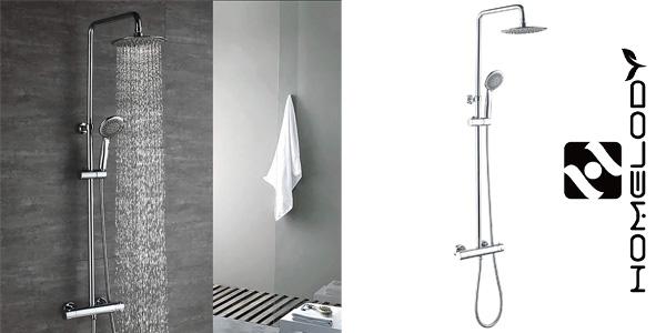 Columna de ducha termostática Homelody 38º C barata en Amazon