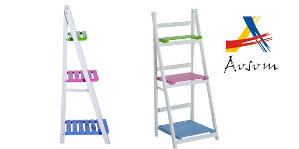 Estantería de pie plegable y multiusos con 3 estantes de madera barata en eBay