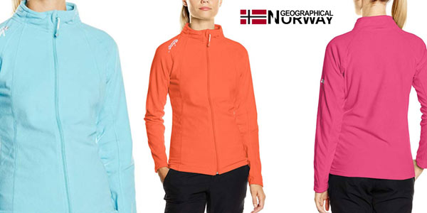Forro polar Geographical Norway WN600F/GN para mujer barato en Amazon