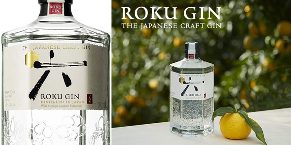Botella ginebra premium japonesa Suntory Roku Gin de 70cl chollazo en Amazon