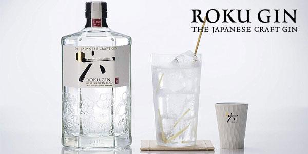 Botella ginebra premium japonesa Suntory Roku Gin de 70cl chollo en Amazon