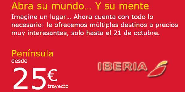 Iberia ofertas vuelos de otoño invierno octubre 2018