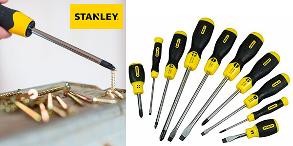 Juego de 10 destornilladores Stanley a muy buen precio