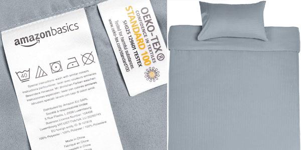 Juego de ropa de cama AmazonBasics con funda nórdica y funda de almohada chollazo en Amazon