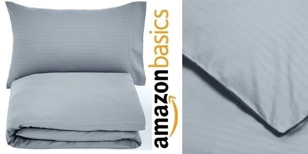 Juego de ropa de cama AmazonBasics con funda nórdica y funda de almohada chollo en Amazon