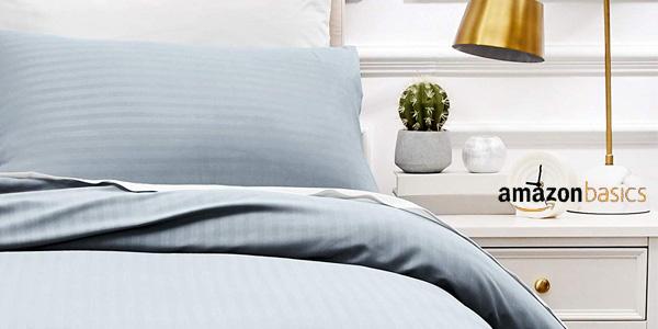 Juego de ropa de cama AmazonBasics con funda nórdica y funda de almohada barato en Amazon