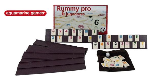 Juego de mesa Aquamarine Games Rummy Pro para 6 jugadores barato en Amazon