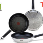 Set de 3 sartenes de acero inoxidable Tefal Emotion con base de aluminio de 20, 24 y 26 cm barato en Amazon