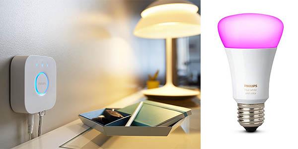 kit de iluminación de colores Philips Hue White Color and Ambiance oferta
