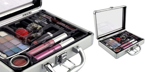 Maleta de maquillaje Gloss! GM-10708 de 23 piezas en color gris barata en Amazon