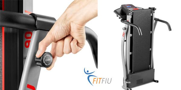 Máquina de correr plegable Fitfiu MC-100 de 900 W en negro chollazo en Amazon