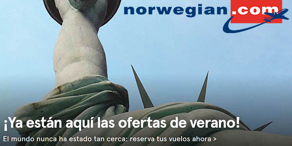 Norwegian ofertas de verano abril 2019
