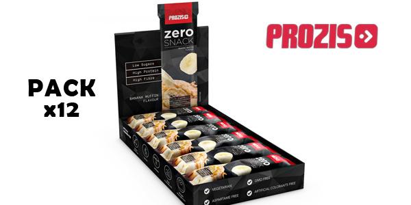 Pack x12 Prozis Zero Snack Barritas de proteínas barato en Amazon