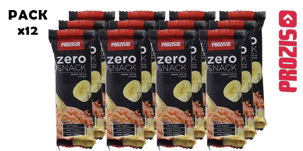 Pack x12 Prozis Zero Snack Barritas de proteínas chollo en Amazon