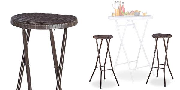 Pack de 2 taburetes altos plegables RelaxDays al mejor precio en Amazon
